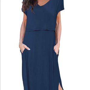 Smallshow Women's Maternity Nursing Dress
